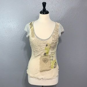 TINY | Distressed Embellished Top S